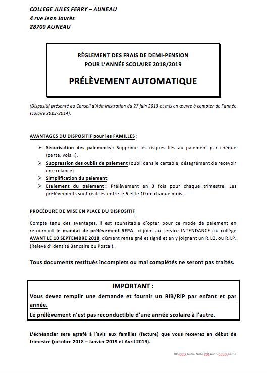 Prélèvements automatiques des frais de demi-pension - Collège Jules ... 3768d9ded3e6